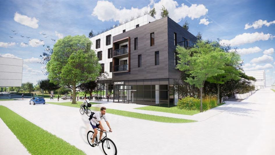 Columbia Street, looking west. Rendering GBL Architects