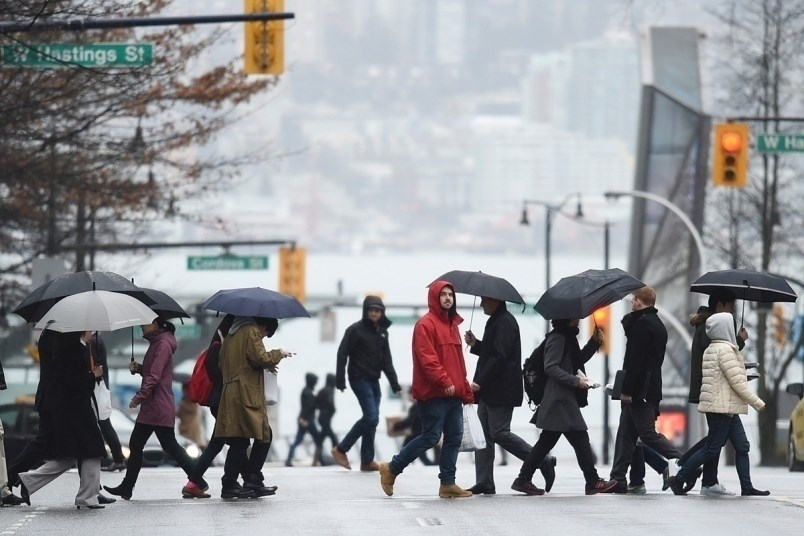 Environment Canada says there's a 60 per cent chance of showers throughout the day on Saturday in Me