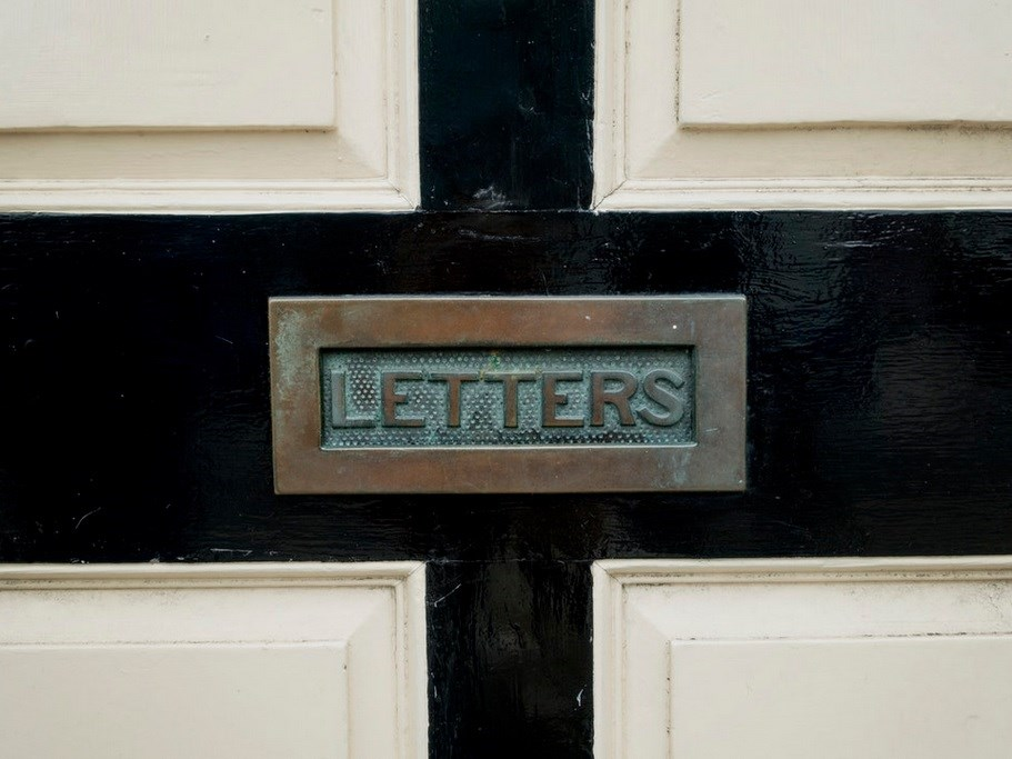 letters door