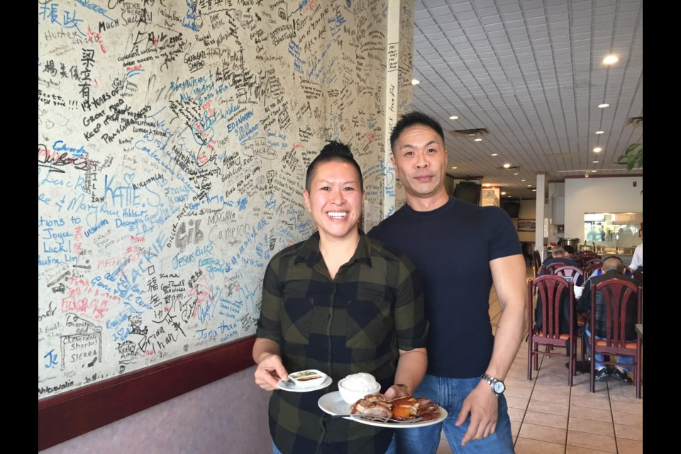 Linda Cheung and her brother Lawrence are thrilled to present their signature dish to local foodies. Nono Shen photo