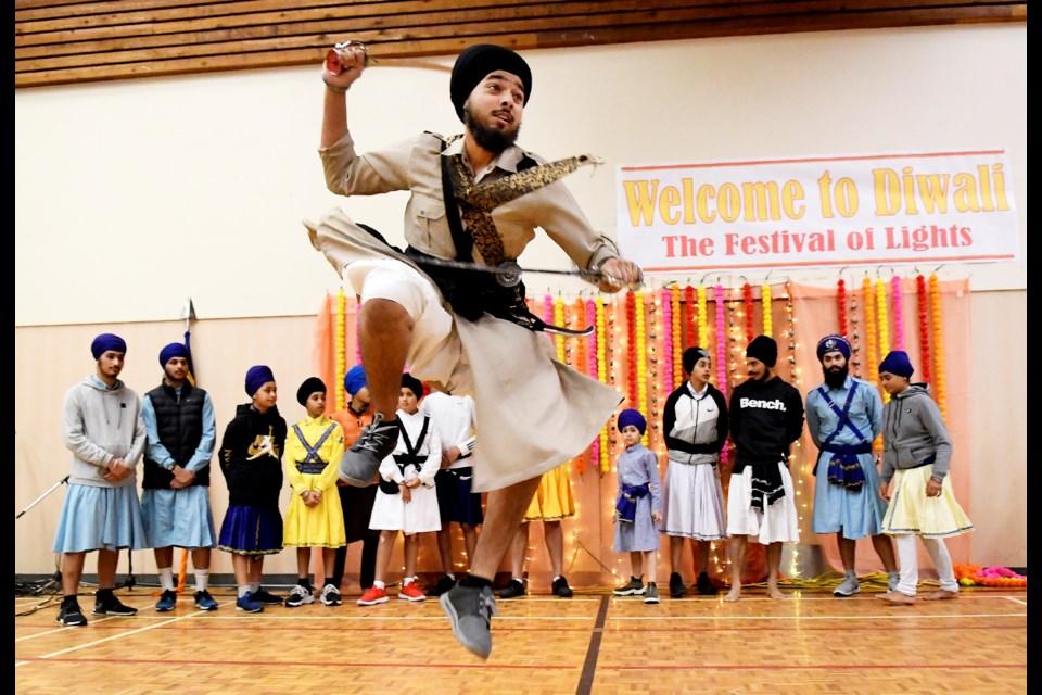 A Gatka performance by Akal Khalsa Jangi Gatka Akhara was part of Sunday's Diwali celebration at Queensborough Community Centre.