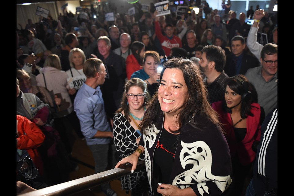 Jody Wilson-Raybould's gamble to run as an independent candidate paid off Monday with her keeping the seat she won as a Liberal in 2015. Photo Dan Toulgoet