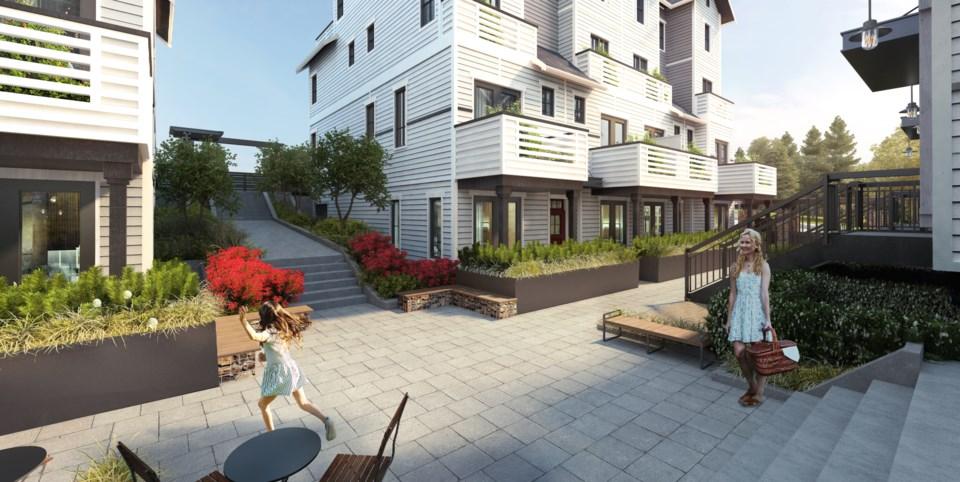 Toppen Ridge Exterior-courtyard_Final Rendering