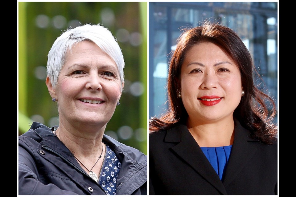 NDPer Bonita Zarrillo and Tory Nelly Shin