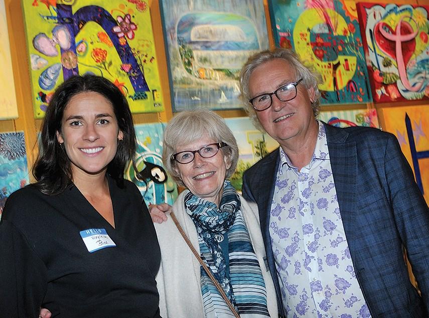 British Pacific Properties' Virginia Bird, Kay Meek Arts Centre vice-chair Patricia Bowles and West Vancouver Community Arts Council board chair David Morton.