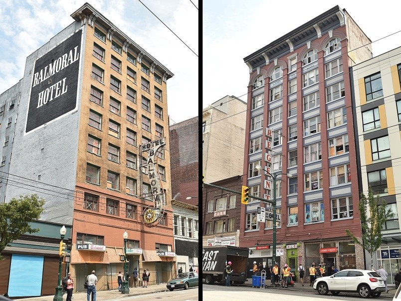 Vancouver city council agreed with a staff recommendation Wednesday to expropriate the Balmoral and Regent hotels on East Hastings Street. Photo Dan Toulgoet