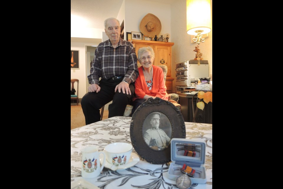 Joyce Ferguson (pictured with her husband, Eric) is proud of her father Frank Hulks' contribution to the Boer War and First World War, the former of which earned him a Queen Victoria Medal. Alan Campbell photo