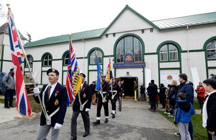 New Westminster residents honour the fallen on Remembrance Day. All photos by Jennifer Gauthier