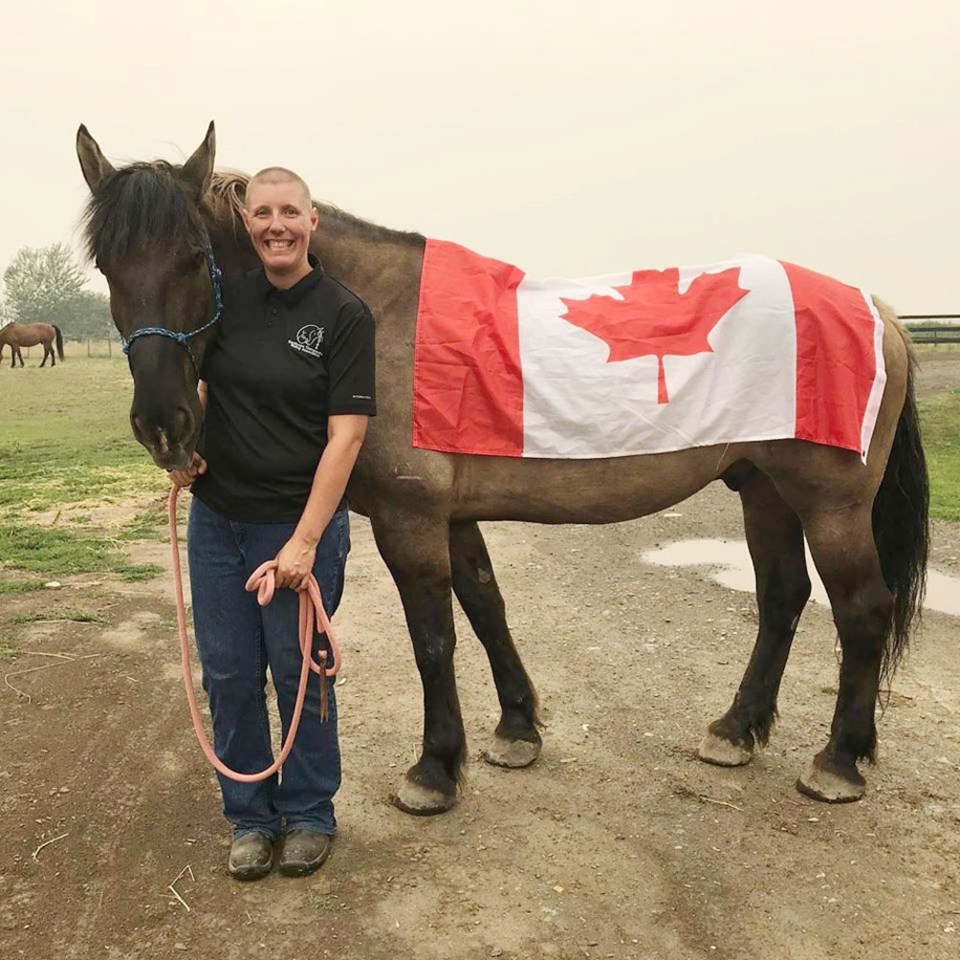 Alex Viner and her horse, Smokey