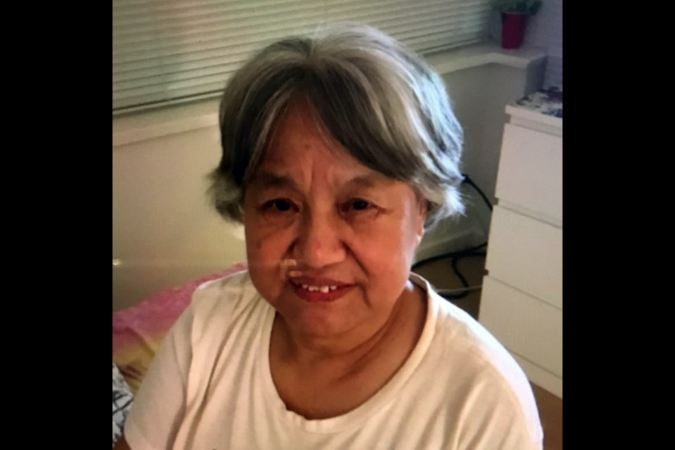 Feng Qin Zhou has been missing since around 1 p.m. on Wednesday, Nov. 20. Richmond RCMP are asking for assistance locating her.