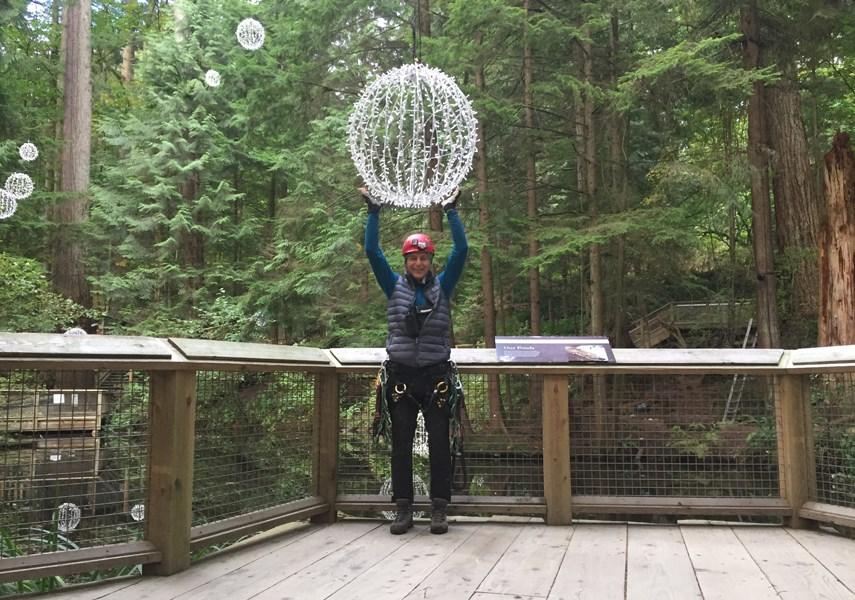 Meet the man who decorates the 300-foot trees at Capilano Suspension Bridge_1