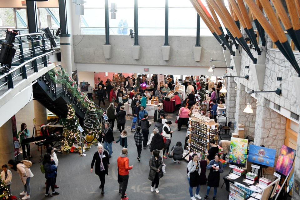 Holiday shoppers packed the Shadbolt Centre for the annual Deer Lake Craft Festival.