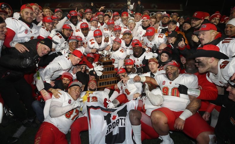 With six Delta high school football products on the roster, the Calgary Dinos won their first Vanier Cup national championship in 24 years on Saturday.