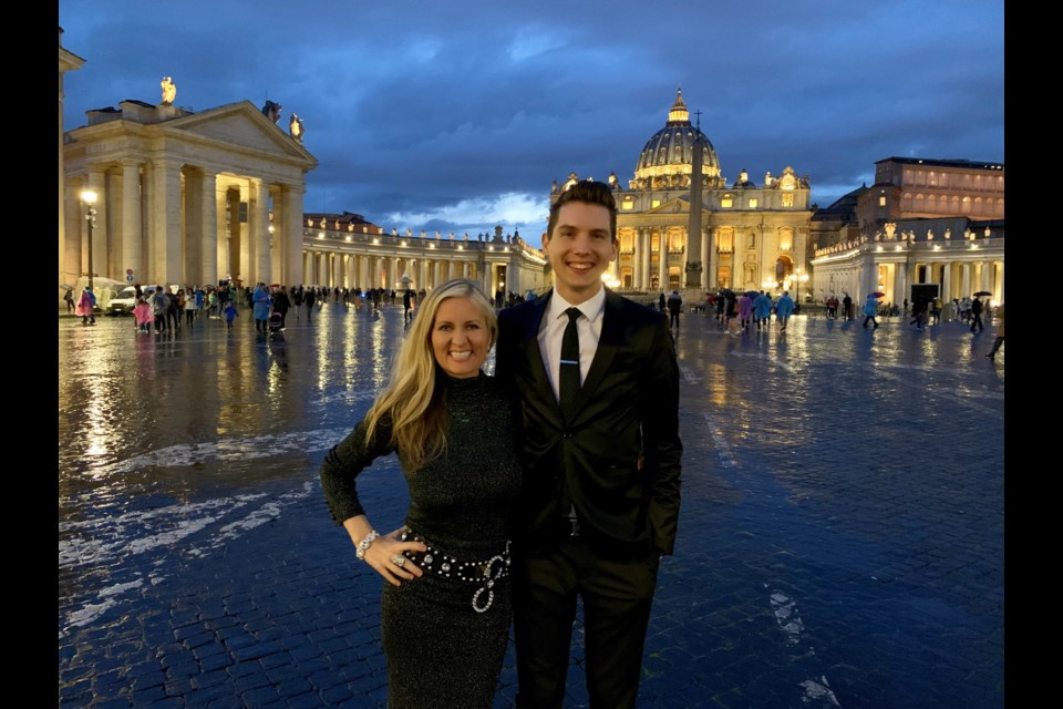 Burnaby's Rosemary Siemens and Eli Bennett in Vatican City, where they recently performed for an international conference of Christian leaders.