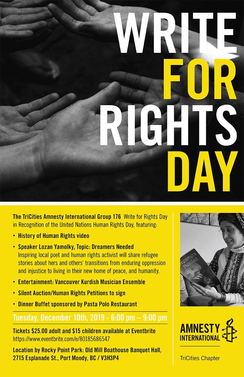 amnesty event poster
