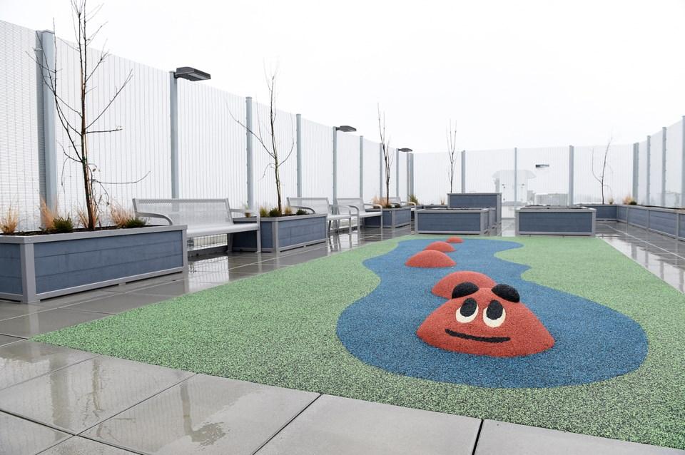 The rooftop patio at Pacific Spirit Terraces. Photo Dan Toulgoet