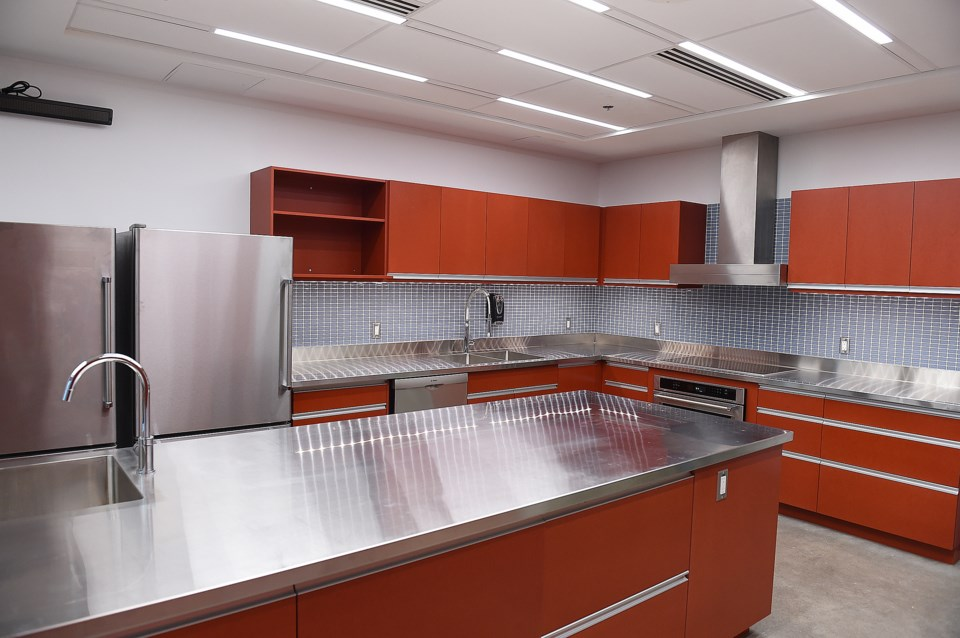 The kitchen in the new Firehall No. 5. Photo Dan Toulgoet