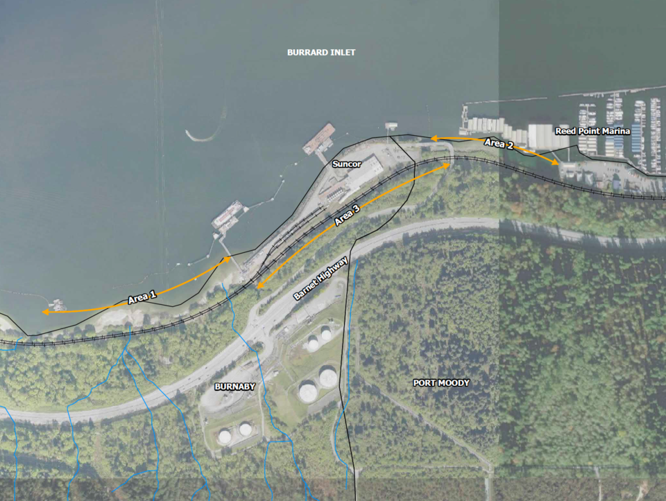The proposed Cascade Capacity Expansion Project runs about 1,100 metres from Reed Point Marina towar