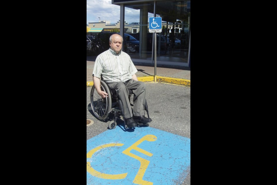 Vince Miele, chair of the Richmond Centre for Disability and long-time advocate for the disabled in the city, is concerned about wheelchair access being eroded.