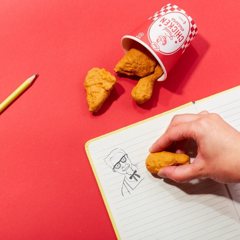 chicken erasers