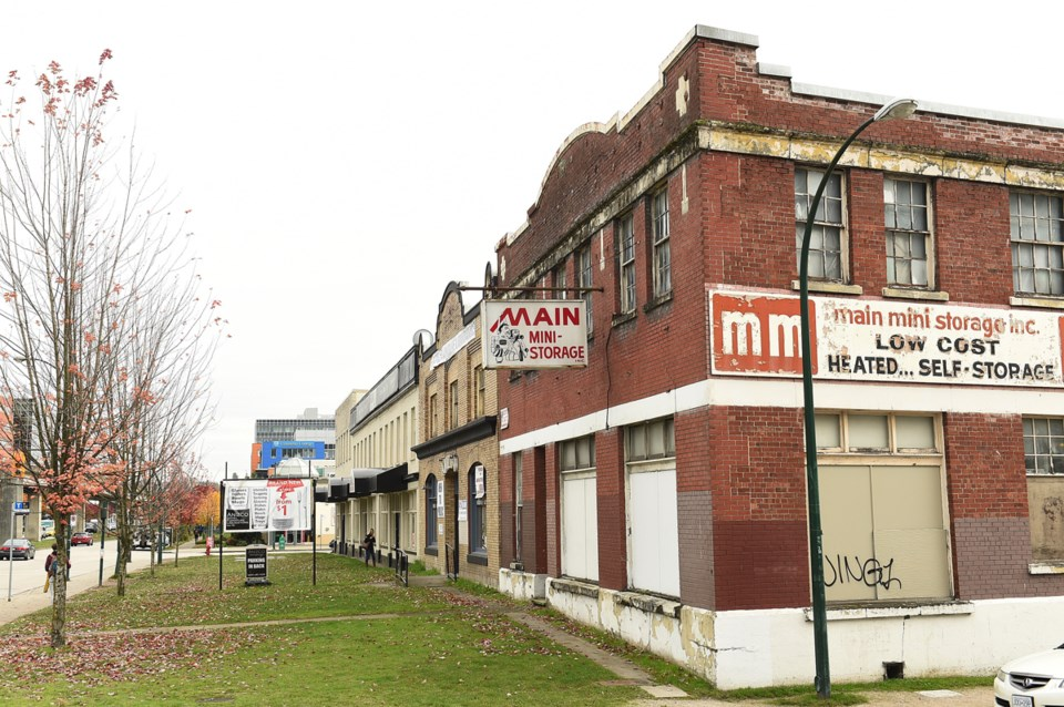 These buildings at 250 Terminal Ave. once housed neon sign manufacturing in the 1920s. Photo Dan To