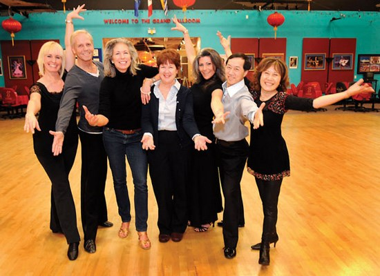 Dancing with the Richmond Stars competitors and instructors, Wendy Pytlik, George Pitlik, Michelle Hopkins, Pat Miller, Laura Van Sprang, Andy Wong and Linda Chen.