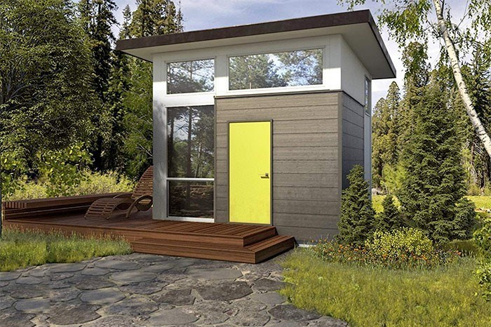 The tiny modular home is now available on Amazon. Photo Nomad Micro Homes