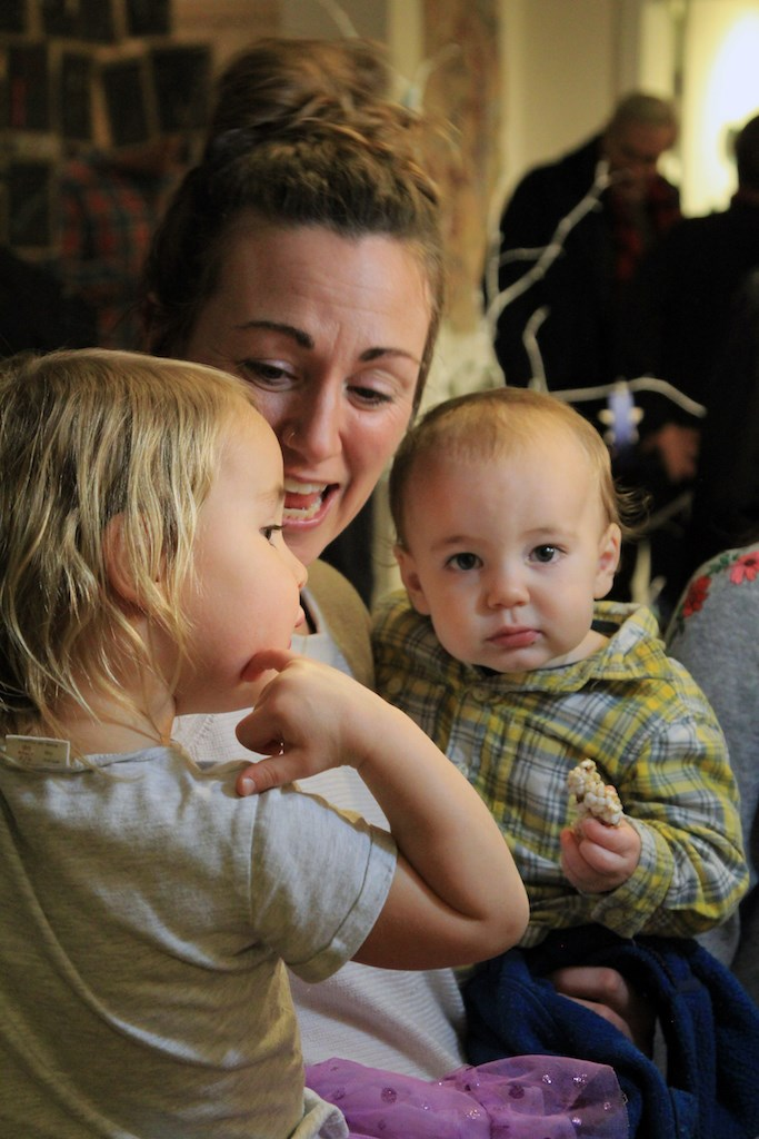 Jessica Slater with a couple of young ones at Bowen Children's Centre's Ordinary Moments Dec. 19.