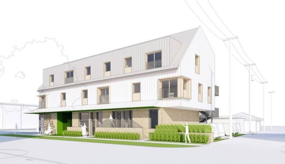 Rendering of Tomo House.