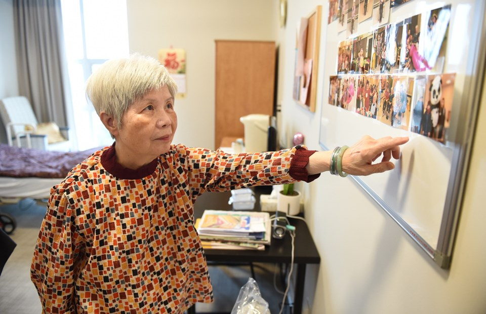 Doris Cheung, 75, in her new room at Villa Cathay Care Home in Strathcona. Photo Dan Toulgoet