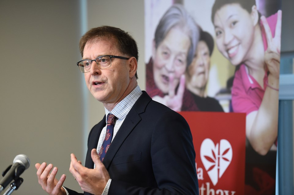 Health minister Adrian Dix was among politicians who spoke at the Jan. 10 event. Photo Dan Toulgoet