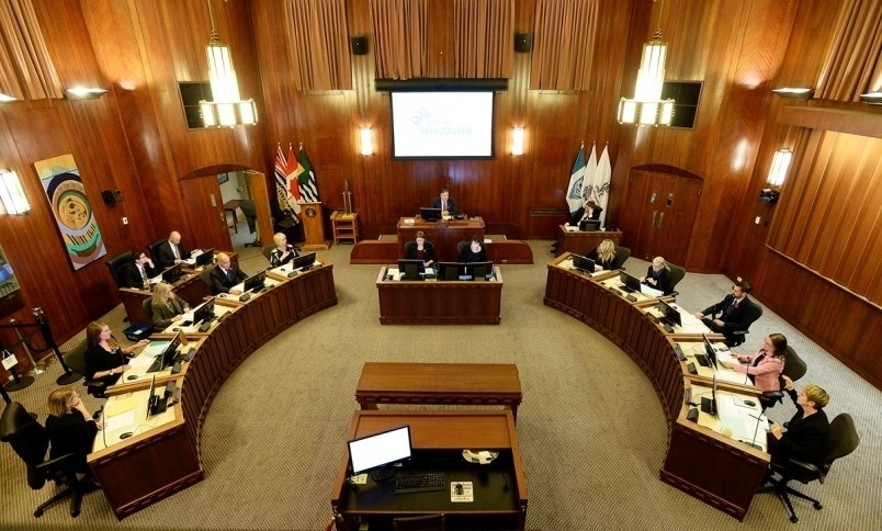 The Vancouver council chamber as it looks today. Photo Dan Toulgoet