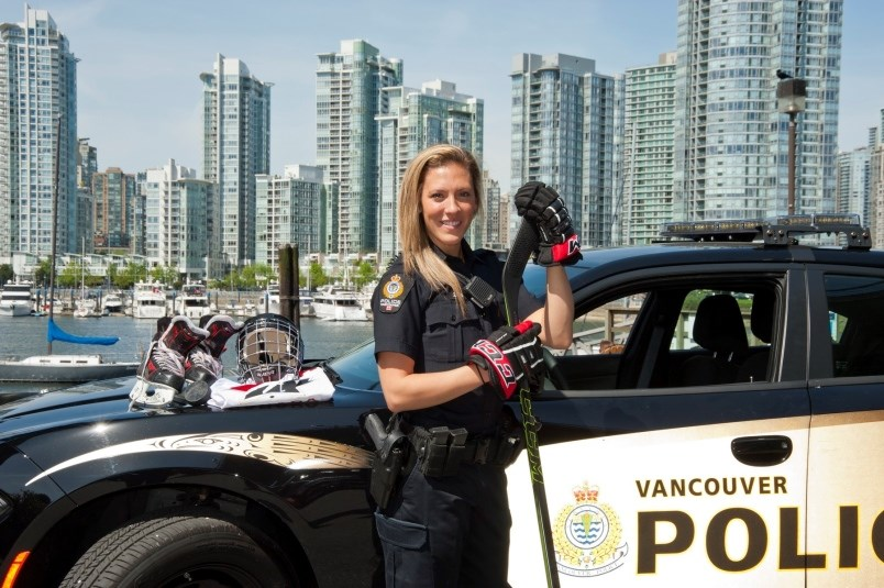 Meghan Agosta with the Vancouver Police Department.