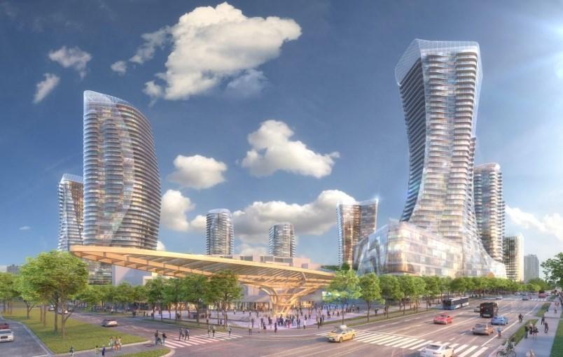 Artist rendering of redevelopment of Oakridge Centre.