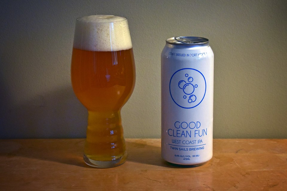 Good Clean Fun by Port Moody's Twin Sails Brewing is a great example of a modern West Coast IPA. A t