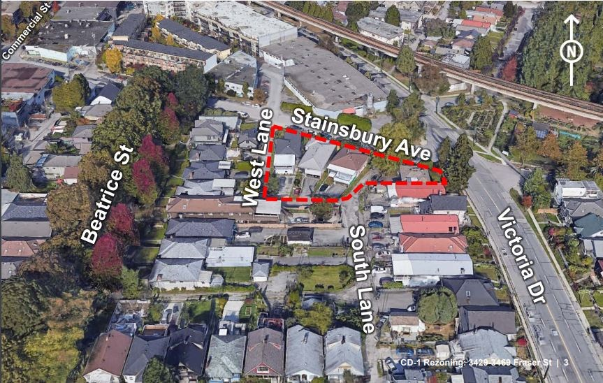 The location for the new building.