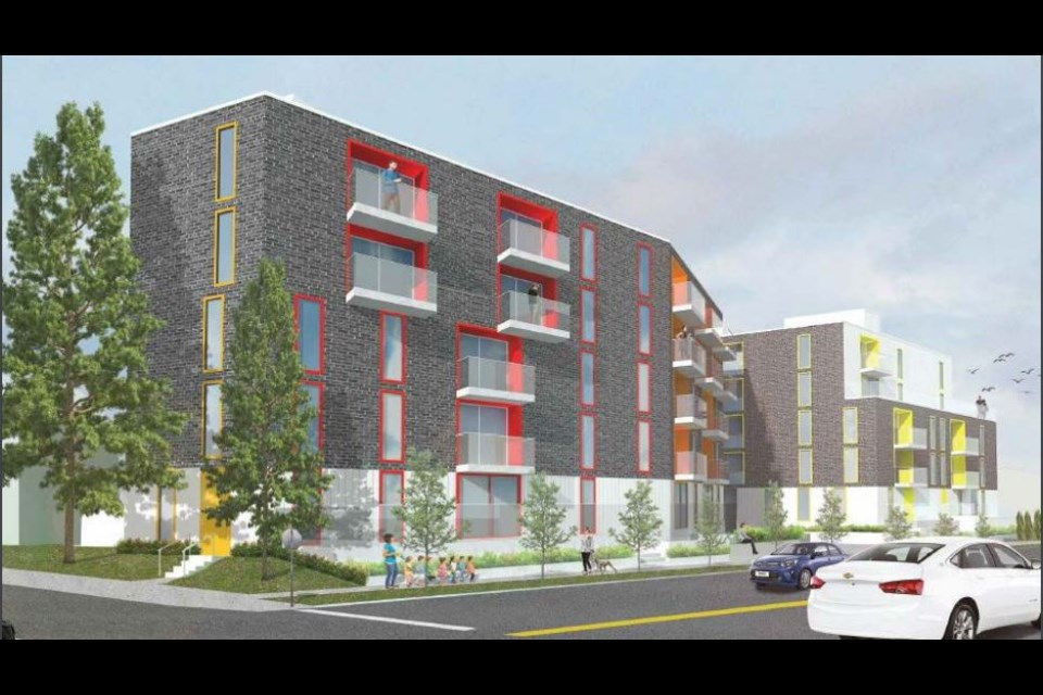 Rendering of the five-storey rental building that will be constructed at 1956 to 1990 Stainsbury Ave. near Trout Lake. Council approved the rezoning application for the project in a 10-1 decision.