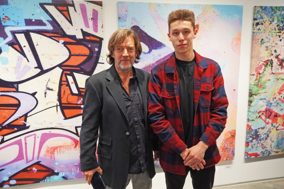 Gerald Shaffer (left) and Beau Smith created and curated Ghosts of Graffiti at Gibsons Public Art Gallery.