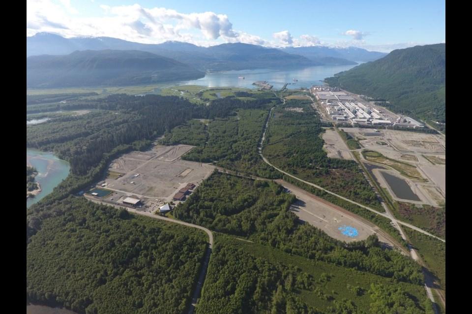 LNG Canada site.