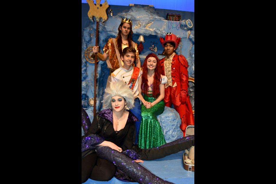 The leads in The Little Mermaid, a musical theatre production at Centennial secondary in Coquitlam.
