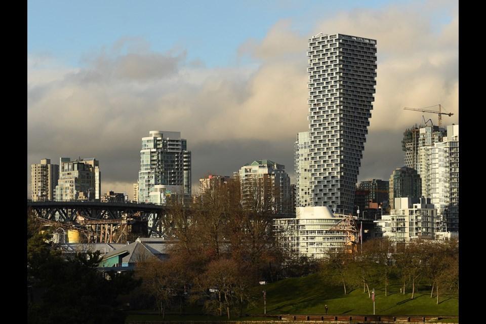 Vancouver House rises above the skyline. Photo Dan Toulgoet