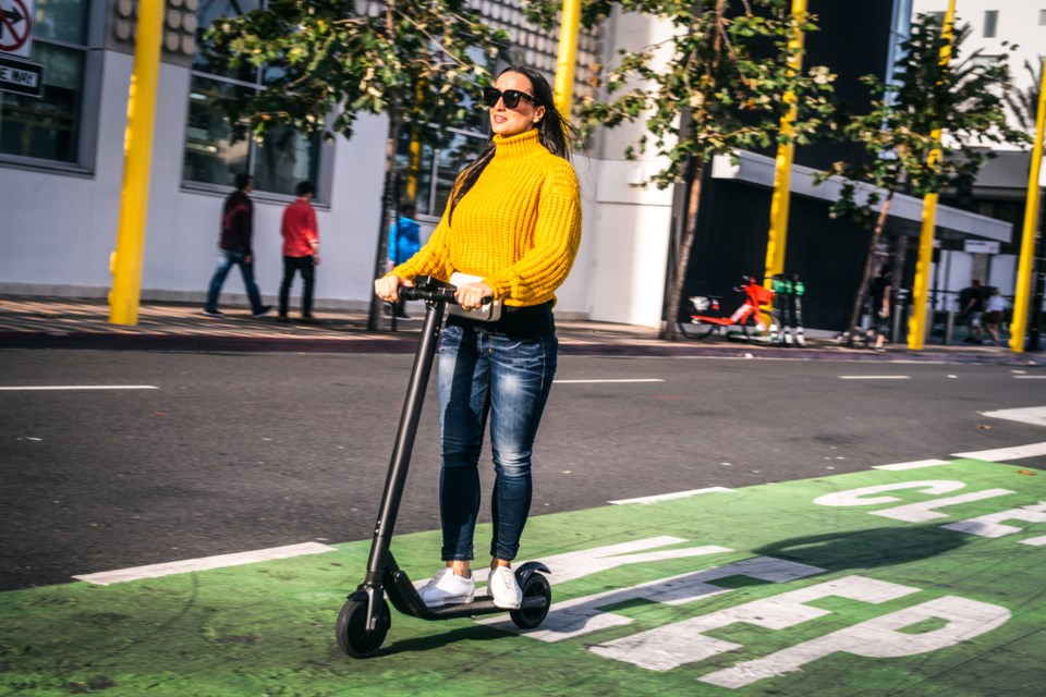 Although e-scooters remain banned by B.C.'s Motor Vehicle Act, the province will permit the launch