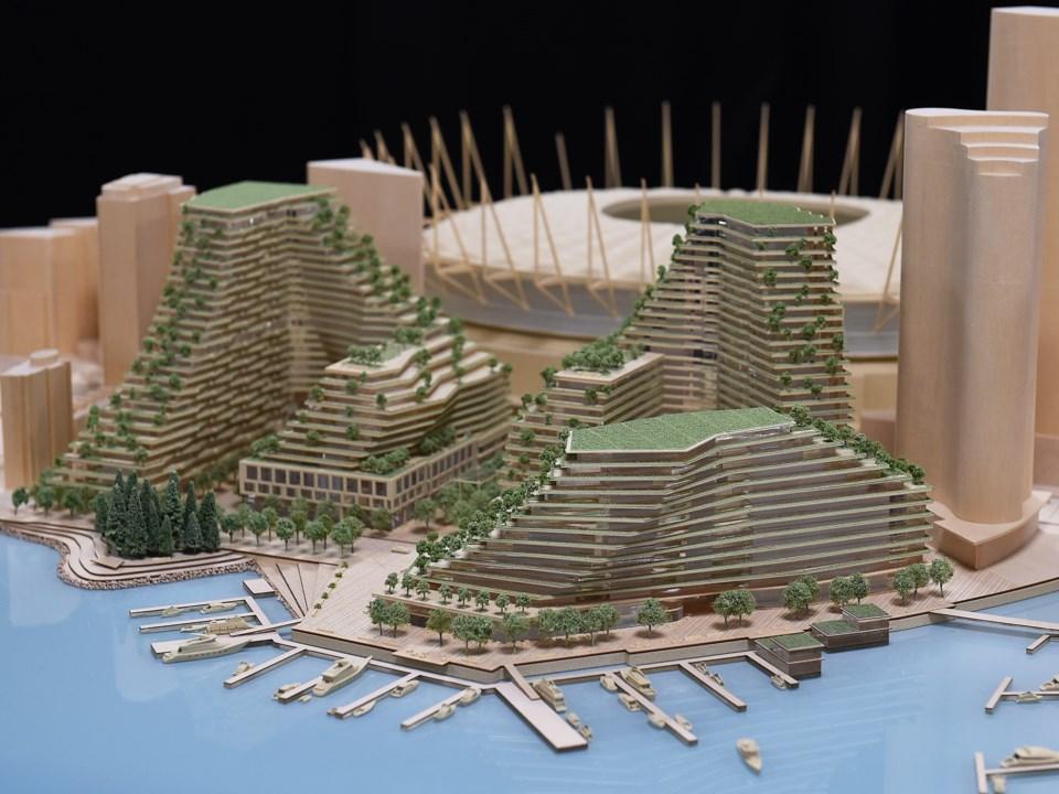A model of the planned devleopment. Photo Dan Toulgoet