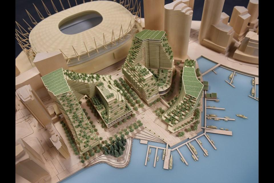 A model of the planned development. Photo Dan Toulgoet