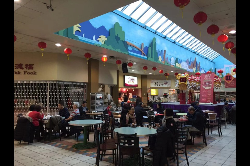 The photo was taken at a food court at Parker Place on Friday morning. Chinese restaurant works have been sales slow down this week.