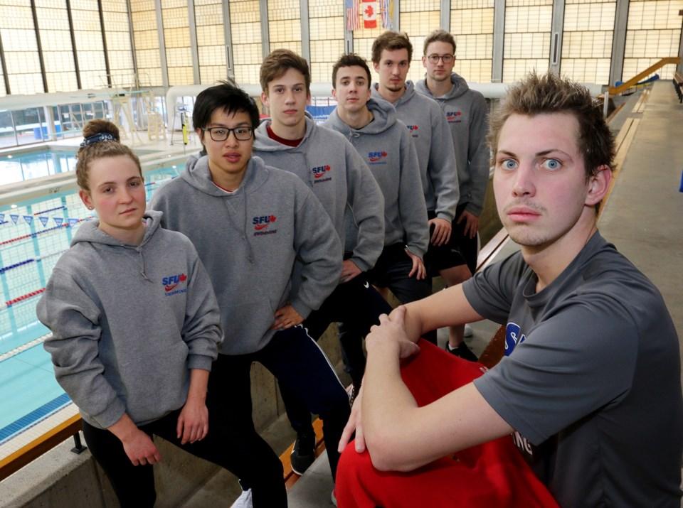 SFU swimmers