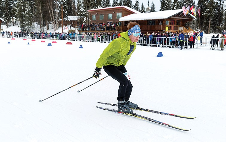 Citizen Photo by James Doyle. Rob McDougall makes his way around the trails at Otway Nordic Centre on Sunday while competing in the Solo Open Men's category of the 33rd Annual Prince George Iceman.