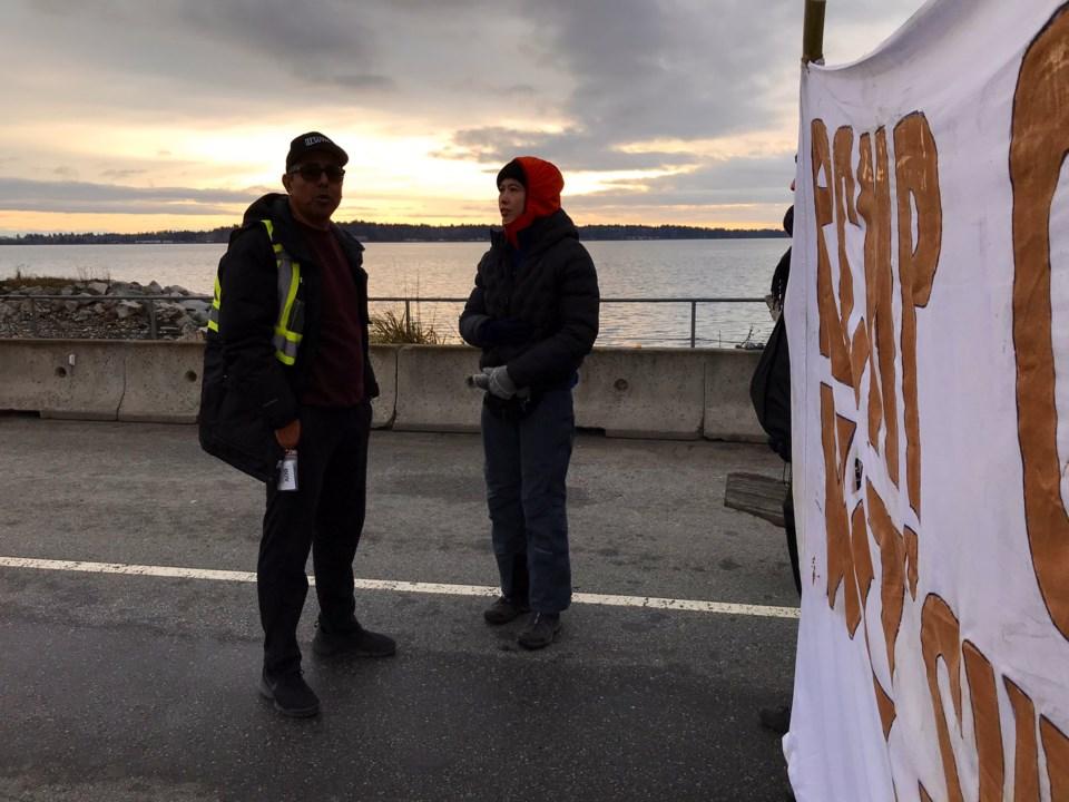 Delta port protest 1