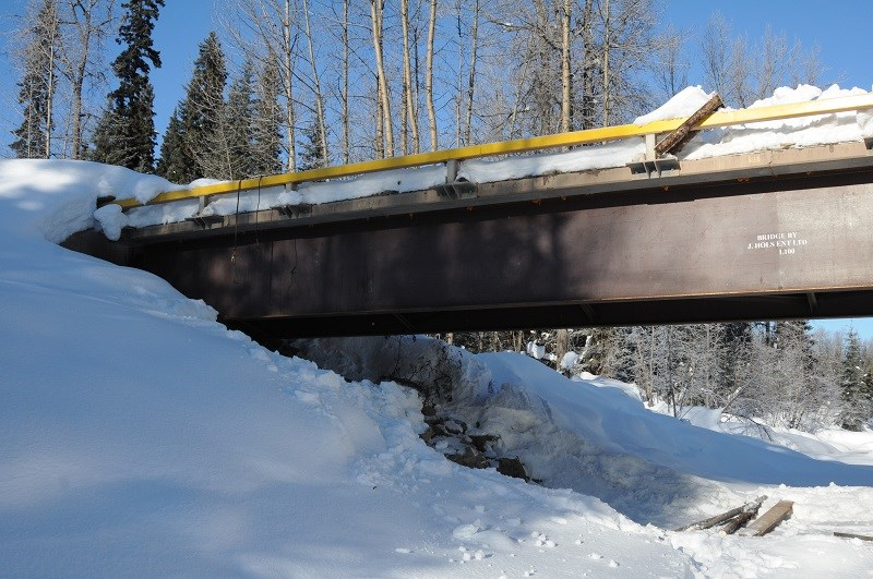 RCMP are investigating after the Lamprey Creek Bridge south of Houston was vandalize.