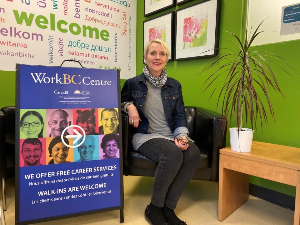 Janice Zlatarits in a WorkBC centre